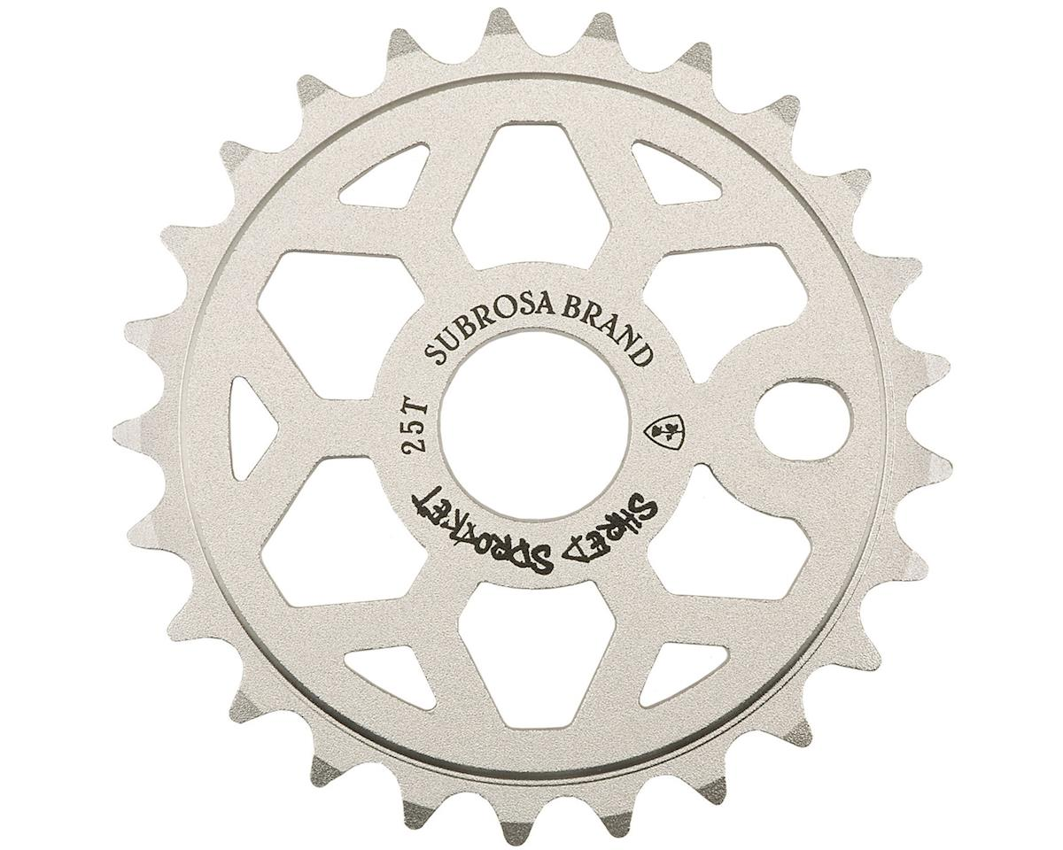 Subrosa Shred Sprocket (Sandblast Silver) (25T)