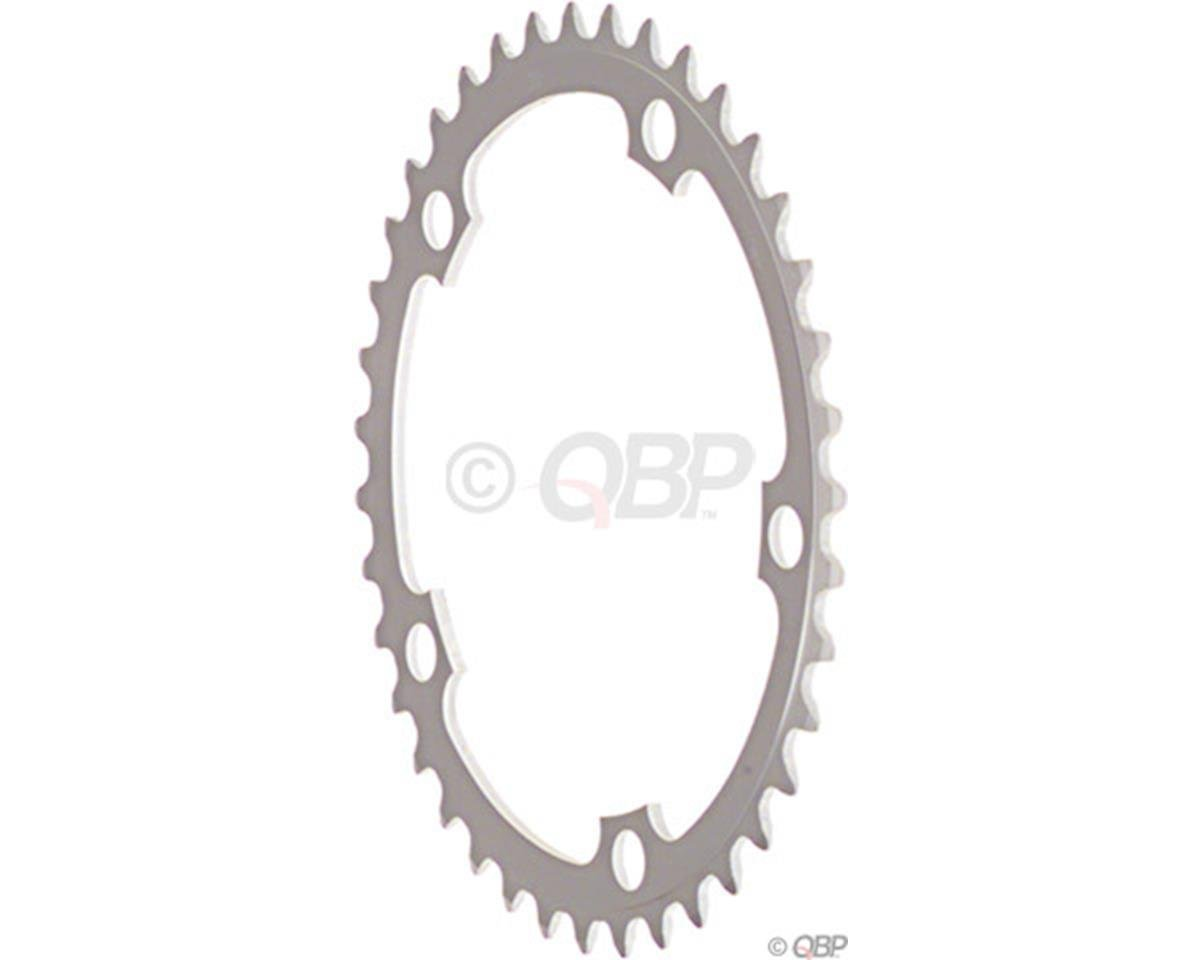 38t x 130mm 5-Bolt Chainring, Anodized Silver