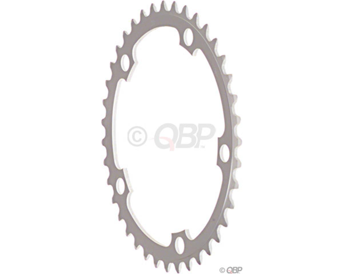 Sugino 52t x 130mm 5-Bolt Chainring, Anodized Silver
