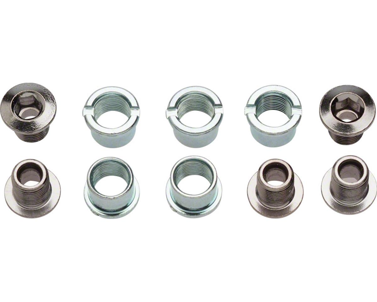 Sugino Double 9mm Chainring Bolt Set of 5, Chromed Steel