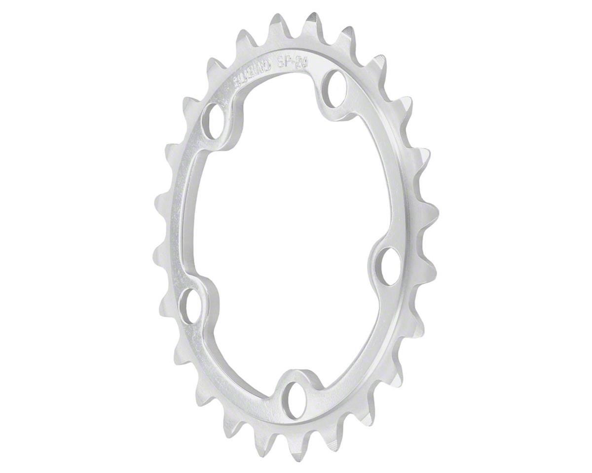 Sugino 24t x 74mm 5-Bolt Chainring, Anodized Silver