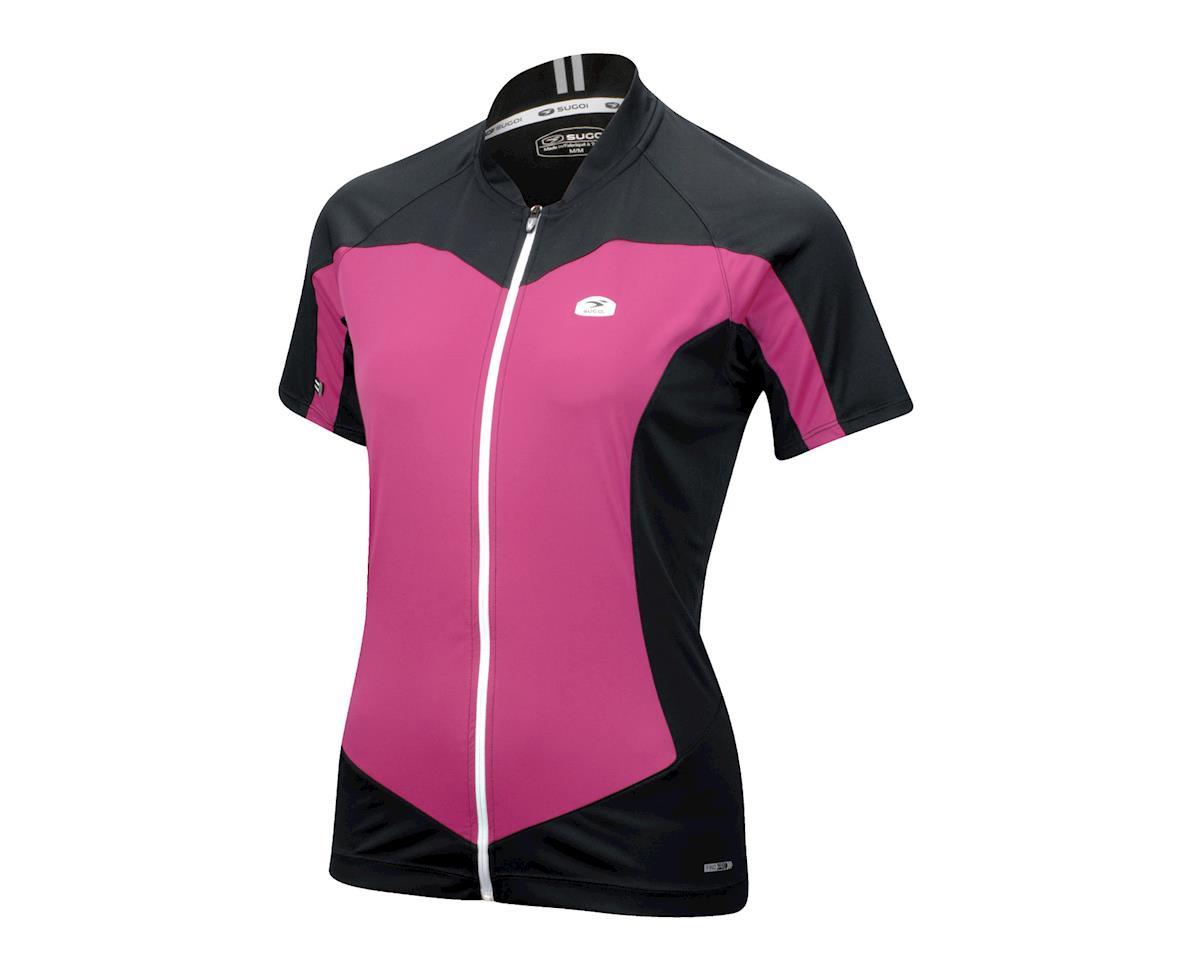 Sugoi Women's Evolution Short Sleeve Jersey (Black/Purple)