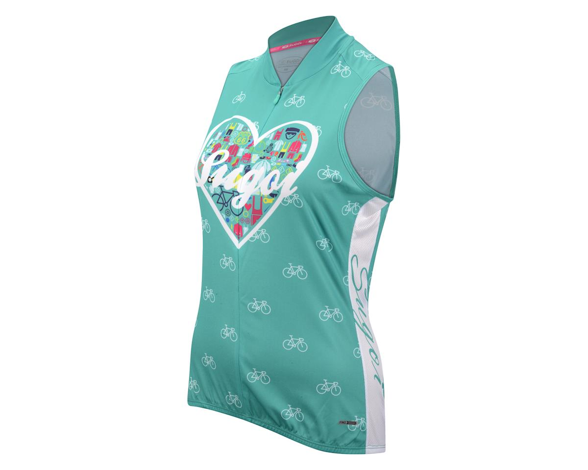 Sugoi Women's I Heart Bikes Sleeveless Jersey (White)