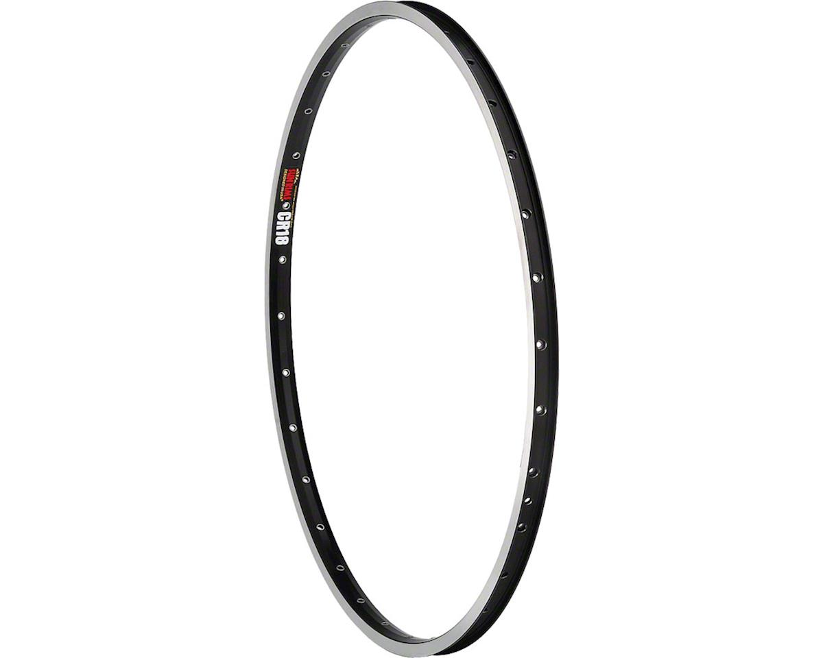 "Sun Ringle CR-18 Rim - 26"", Black/Silver, 36H, Clincher"