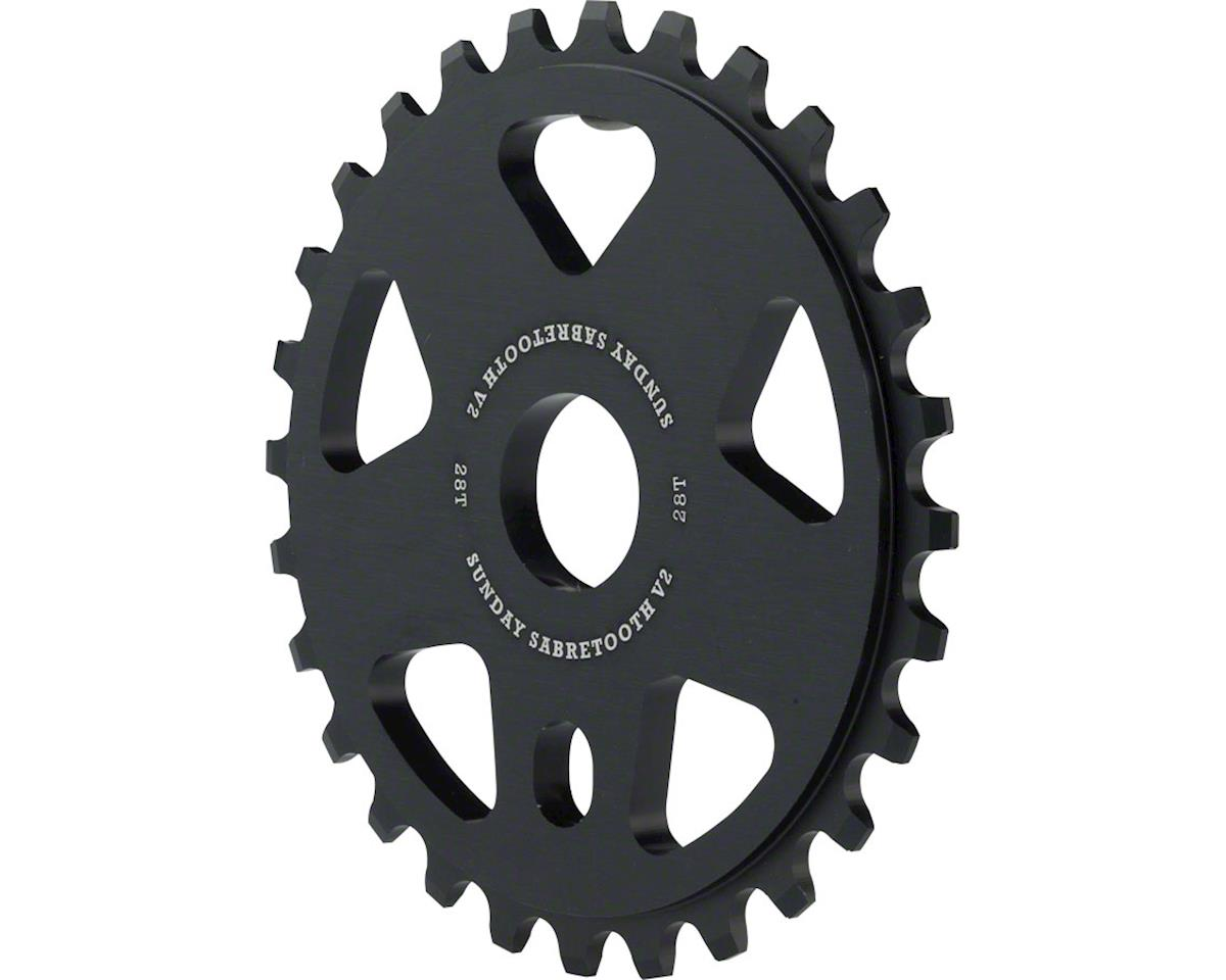 Sunday Sabretooth V2 Sprocket (Black) (28T)