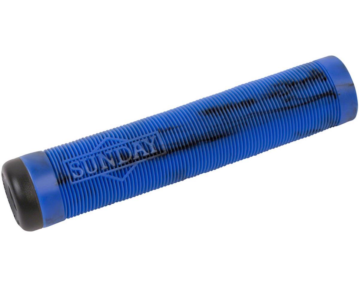 Sunday Cornerstone Grips 155mm Black/Blue Swirl