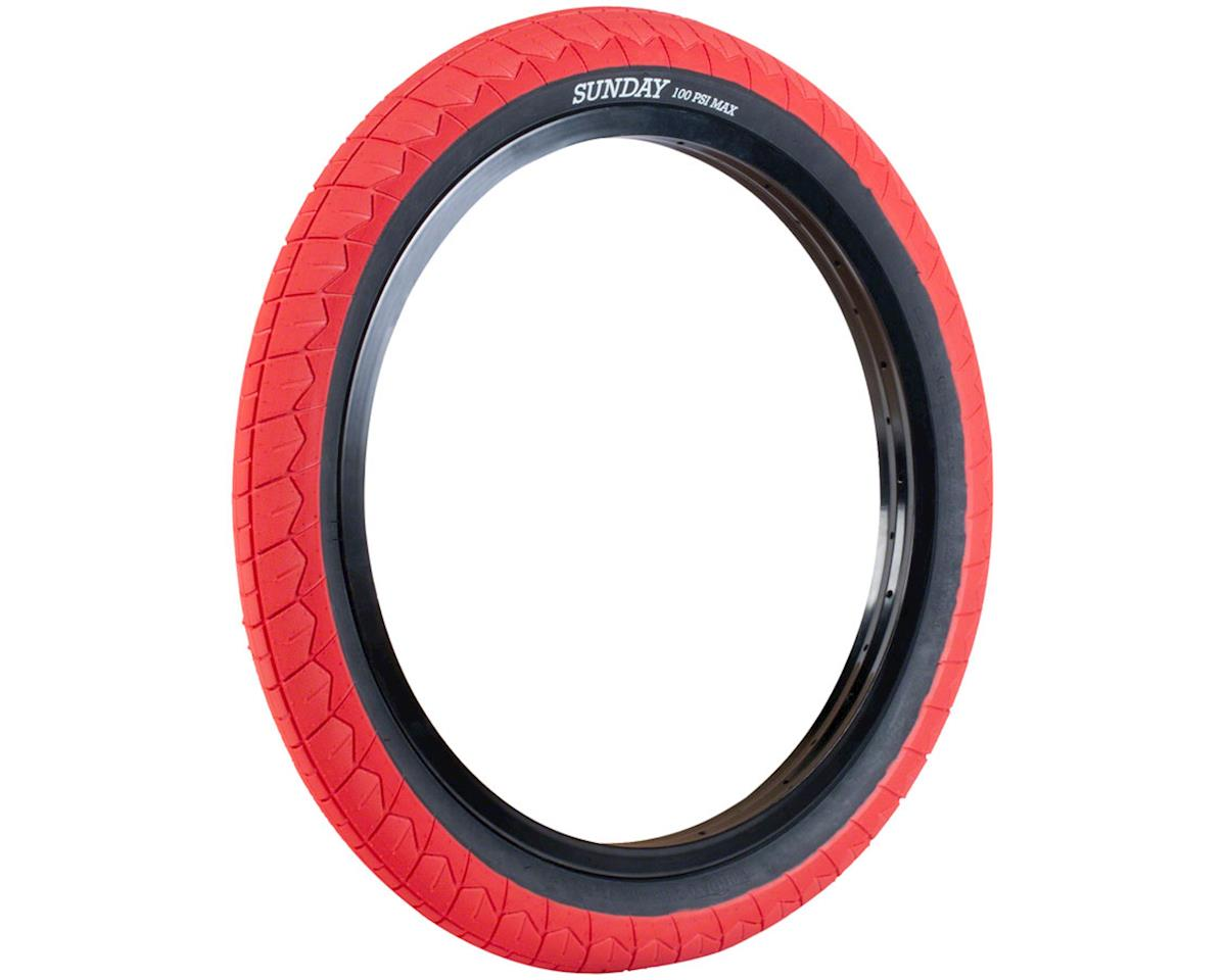Image 2 for Sunday Current V2 Tire (Red/Black) (20 x 2.40)
