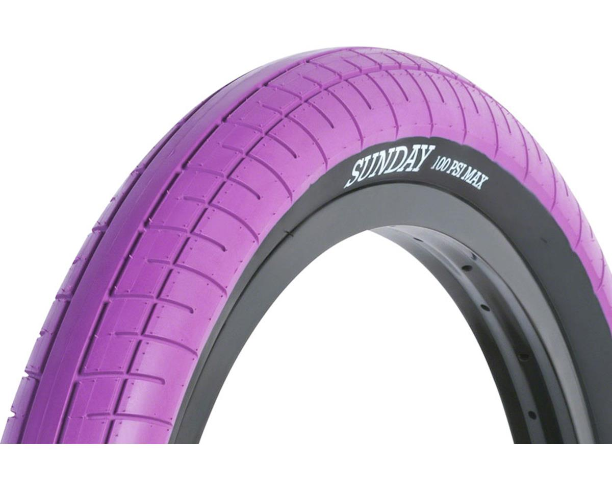 Sunday Street Sweeper Tire - 20 x 2.4, Clincher, Wire, Purple/Black