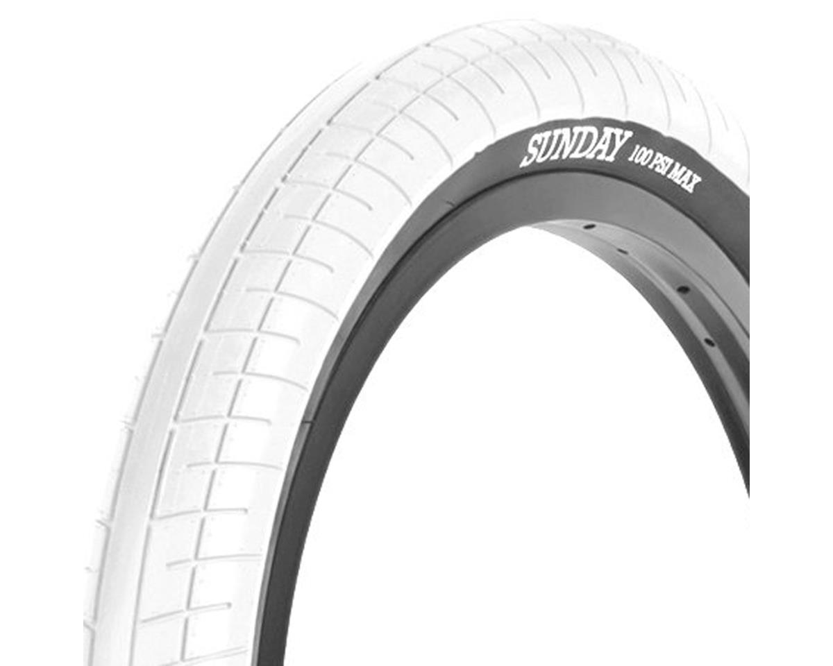 Sunday Street Sweeper Tire - 20 x 2.4, Clincher, Wire, White/Black