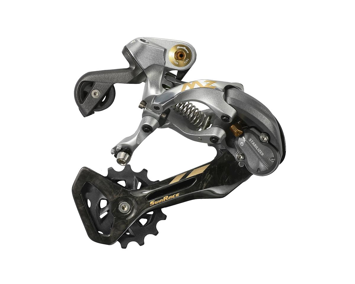 Sunrace RDMZ80 12 Speed Rear Derailleur (Black/Grey/Gold) (Mid Cage)