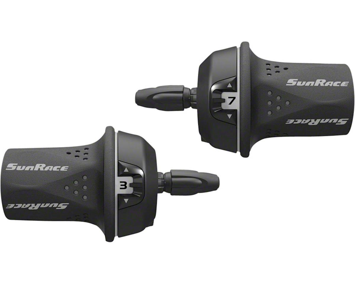 Sunrace M21 Twist Shift Set 8-Speed Rear Friction Front: Gray