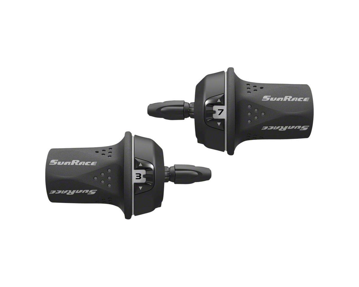 SunRace M21 Twist Shift Set 8-Speed Rear Friction Front: Gray