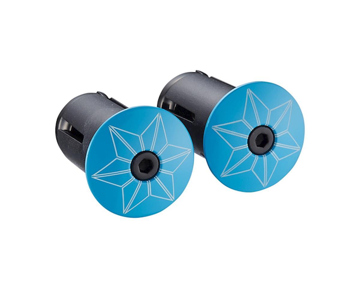 Supacaz Star Plugz Bar Plugs (Powder Coated Neon Blue)