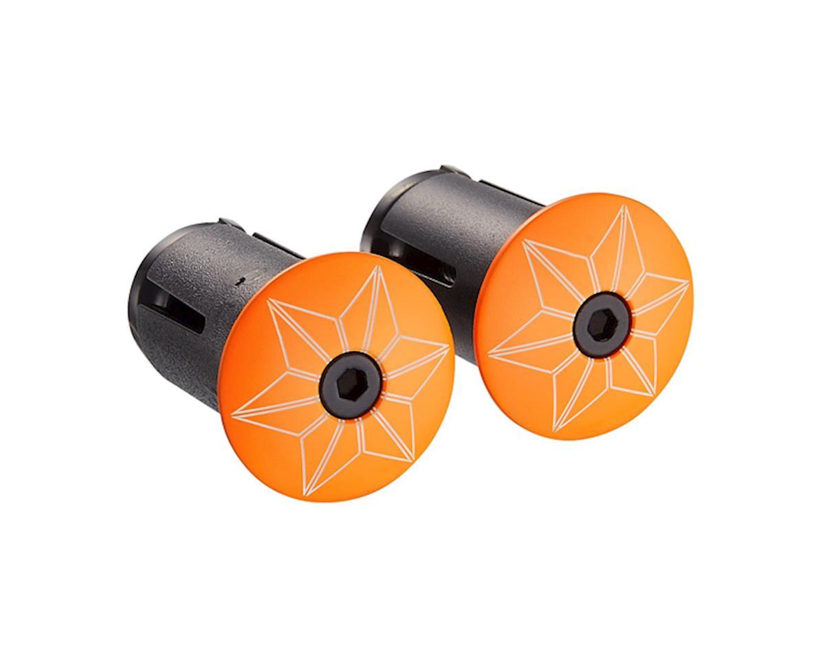 Supacaz Star Plugz Bar Plugs (Powder Coated Neon Orange)
