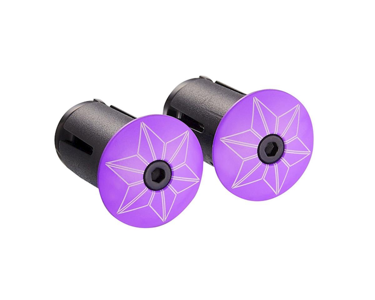Supacaz Star Plugz Bar Plugs (Powder Coated Neon Purple)