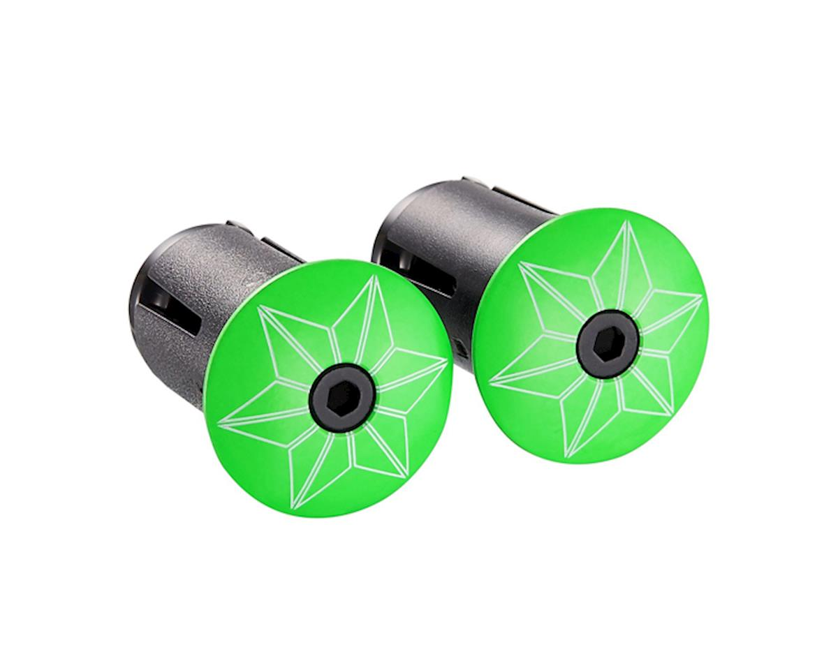 Supacaz Star Plugz Bar Plugs (Powder Coated Neon Green)