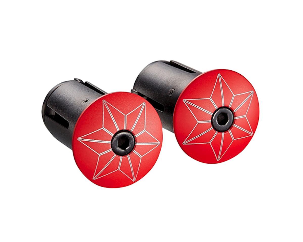 Supacaz Star Plugz Bar Plugs (Powder Coated Red)
