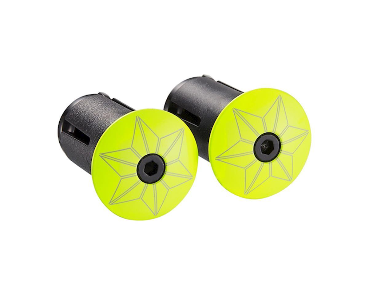 Supacaz Star Plugz Bar Plugs (Powder Coated Neon Yellow)