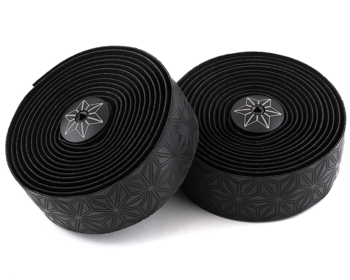 Supacaz Super Sticky Kush Handlebar Tape (Black w/ Black Plugs)