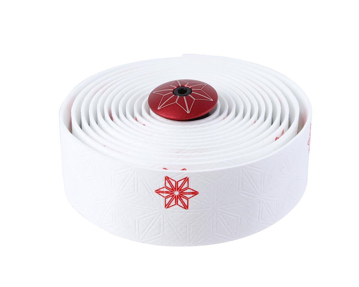 Supacaz Super Sticky Kush Bar Tape (Galaxy White w/ Red)
