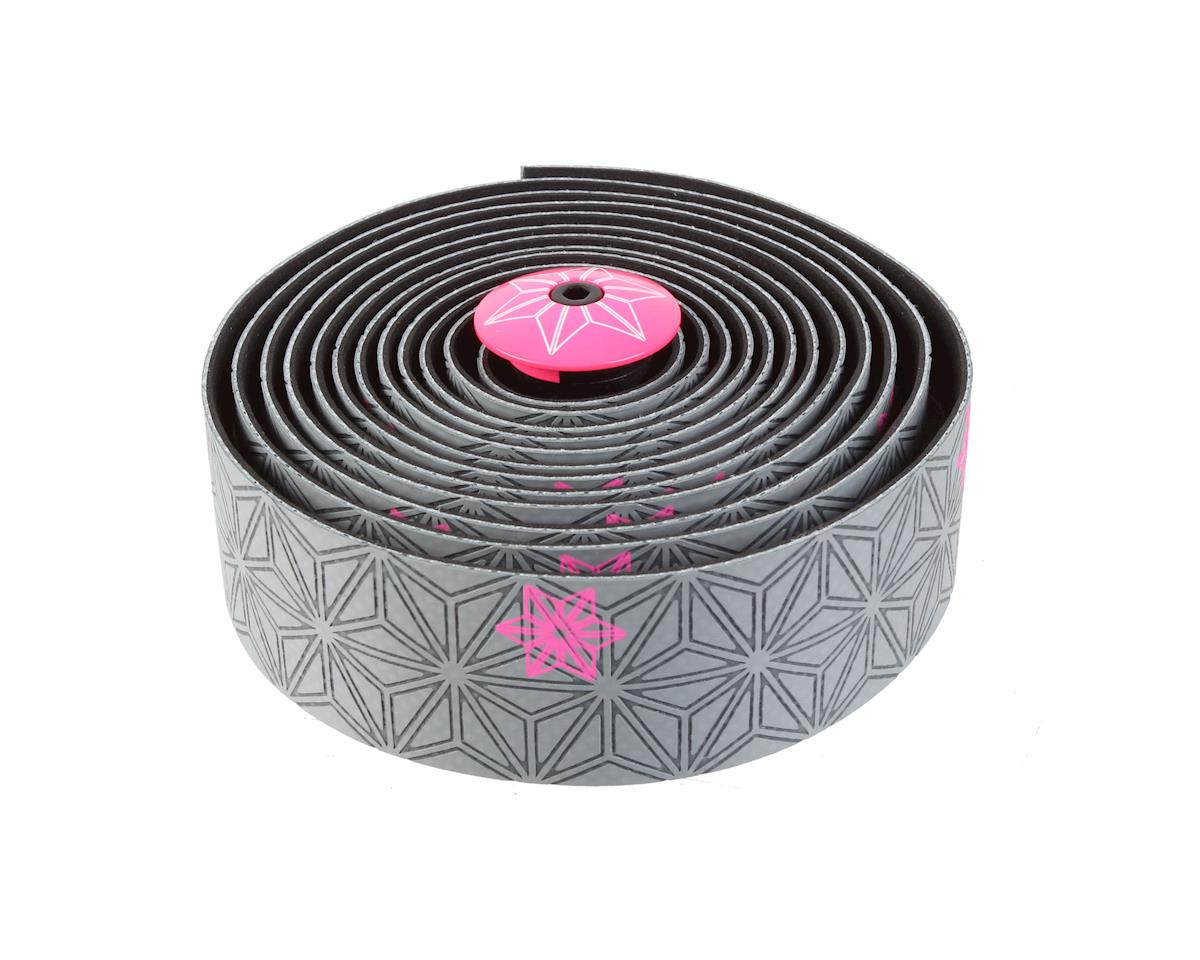 Supacaz Super Sticky Kush Bar Tape (Galaxy Gunmetal/Pink)