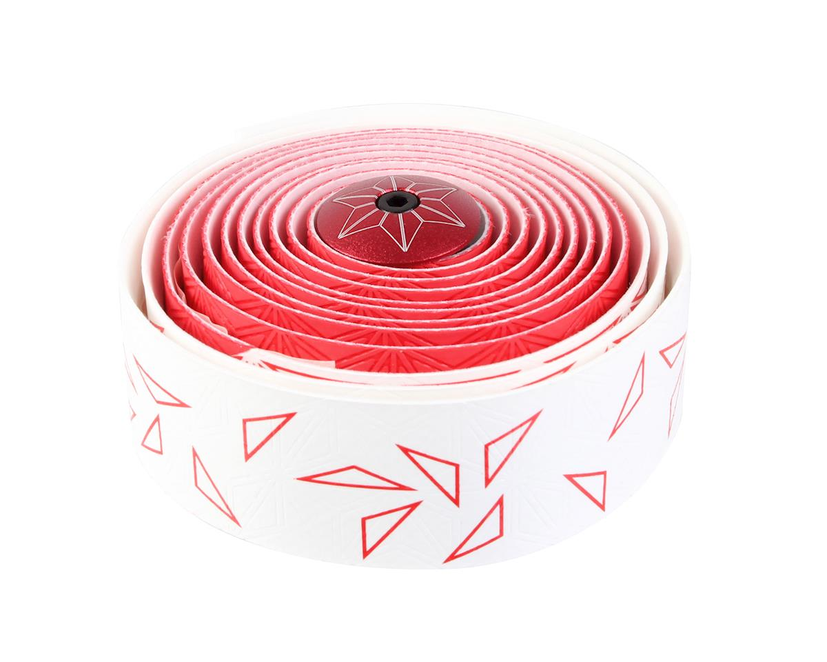 Supacaz Super Sticky Kush Bar Tape (Starfade White/Red)