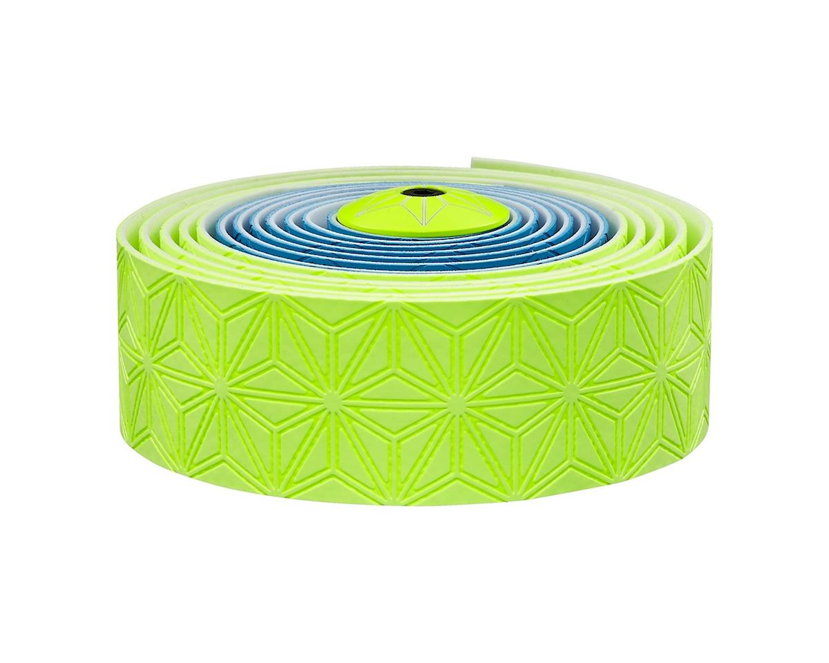 Supacaz Super Sticky Kush Handlebar Tape (Neon Blue & Yellow)