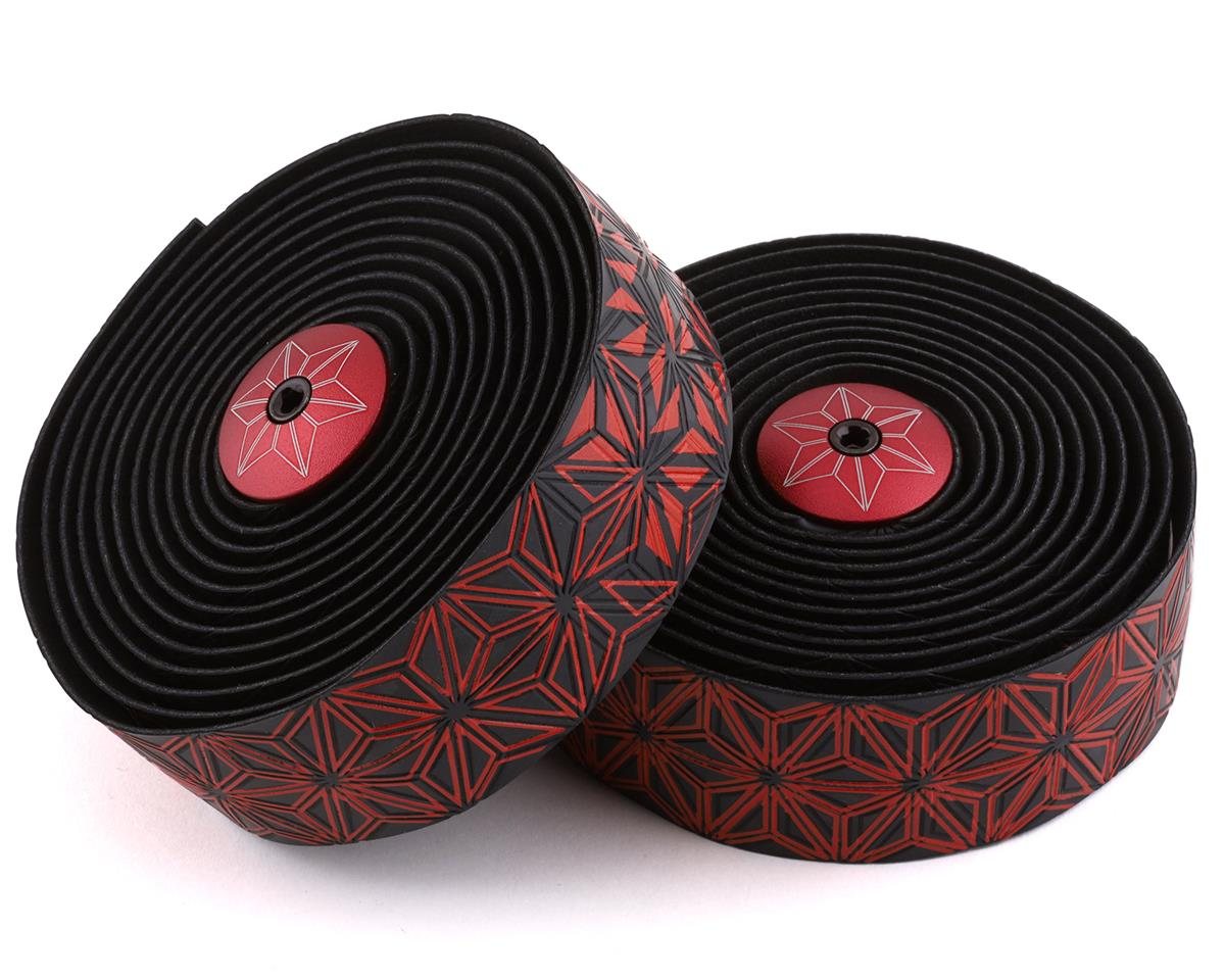 Supacaz Super Sticky Kush Handlebar Tape (Starfade Black & Red)