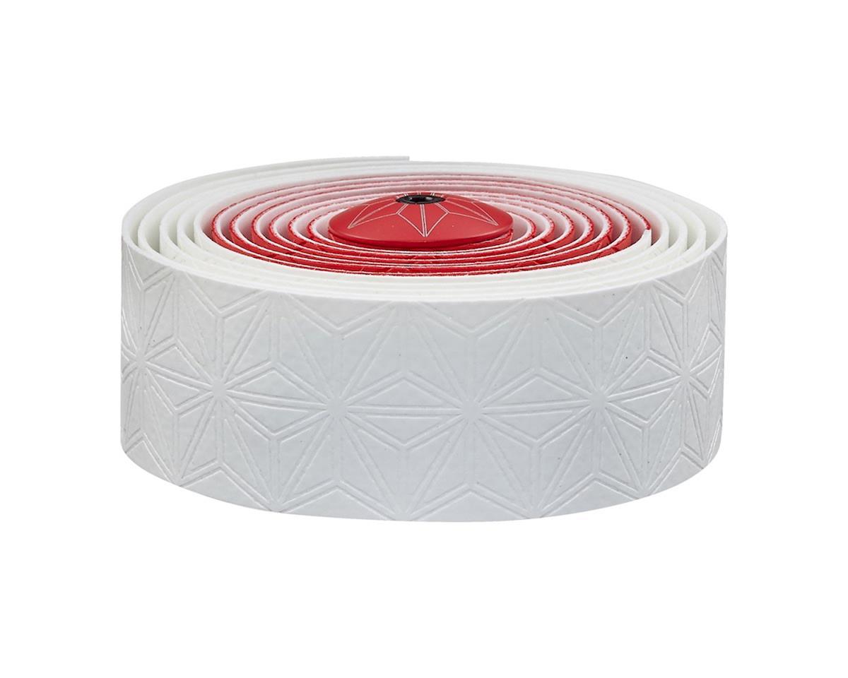 Super Sticky Kush handlebar tape, white and red