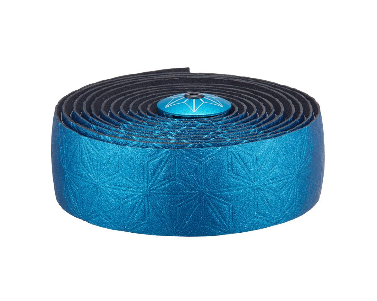 Supacaz Bling Gel Bar Tape (Blue w/ Ano Blue Plug)