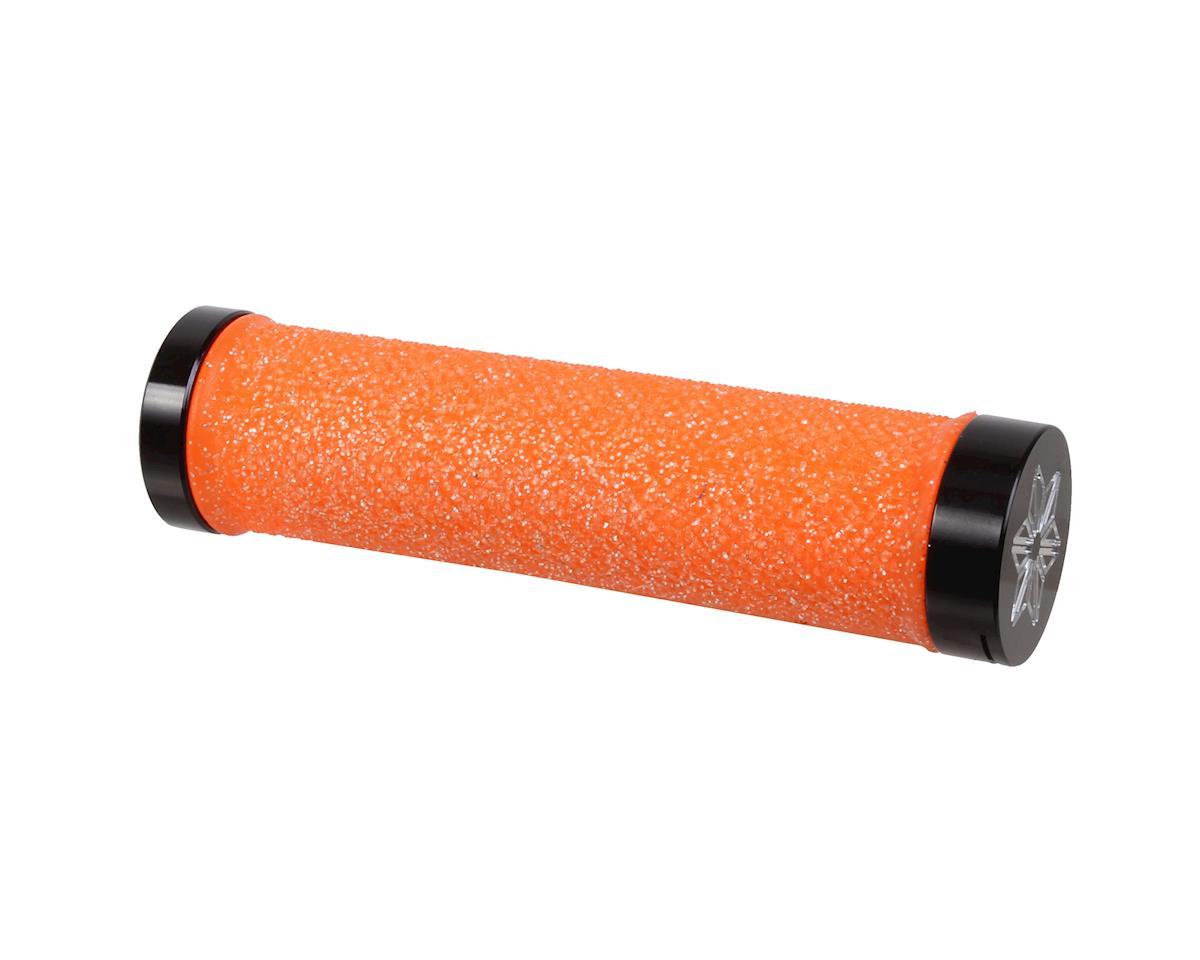 Supacaz Diamond Kush Locking Grips (Neon Orange w/ Black Rings)