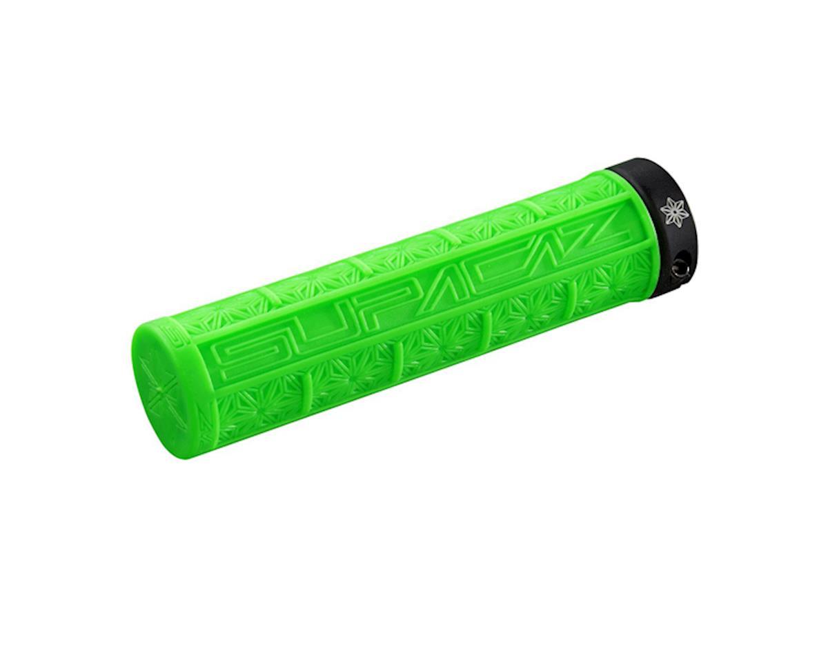 Supacaz Lockon Grizips Grips (Neon Green/Black) (135mm)