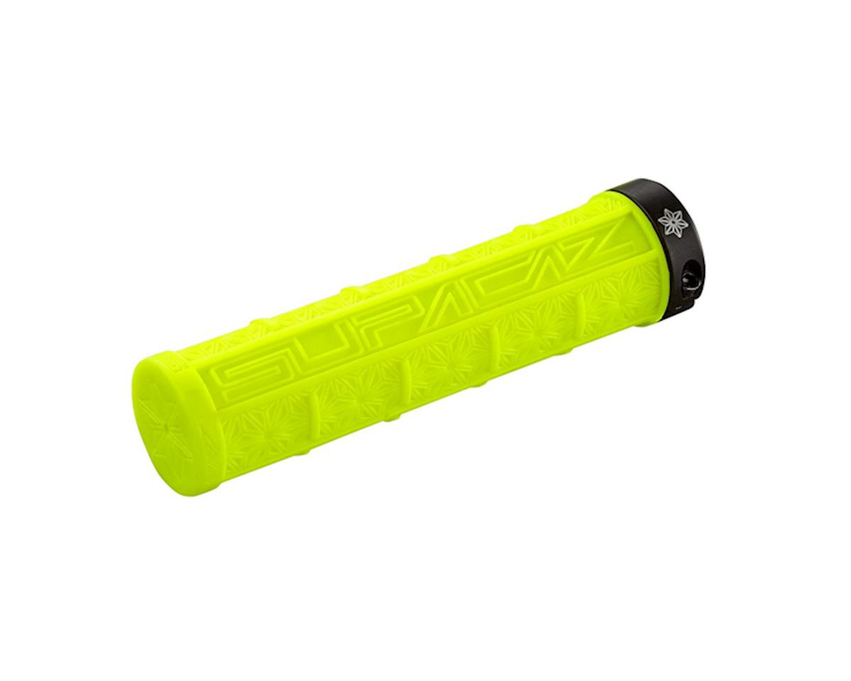 Supacaz Lockon Grizips Grips (Neon Yellow/Black) (135mm)