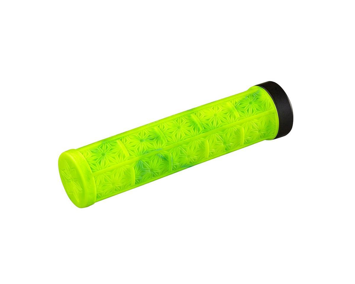 Supacaz Lockon Grizips Grips (Splash Neon Yellow/Blue) (135mm)