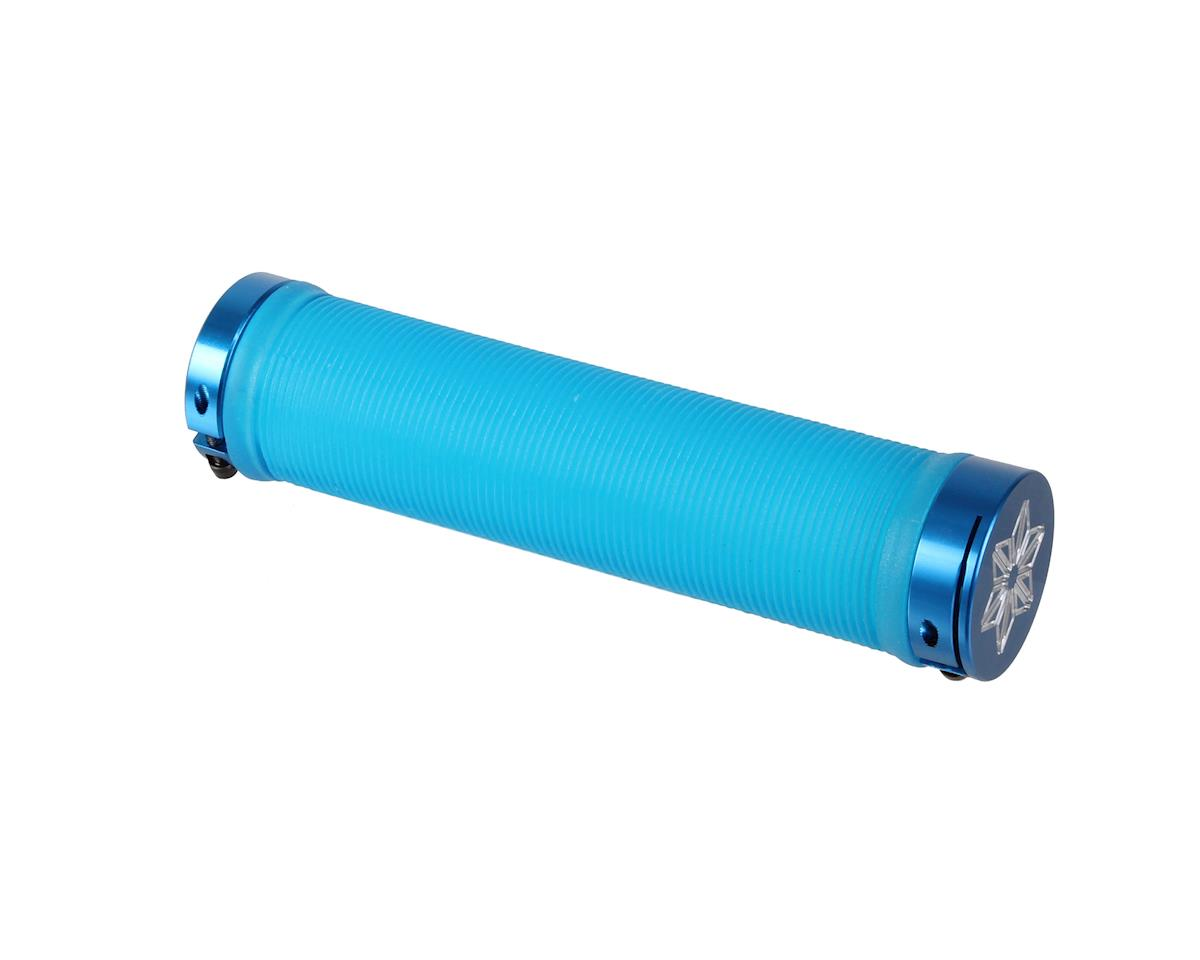 Supacaz Rad Grips (Neon Blue Clear) (135mm)