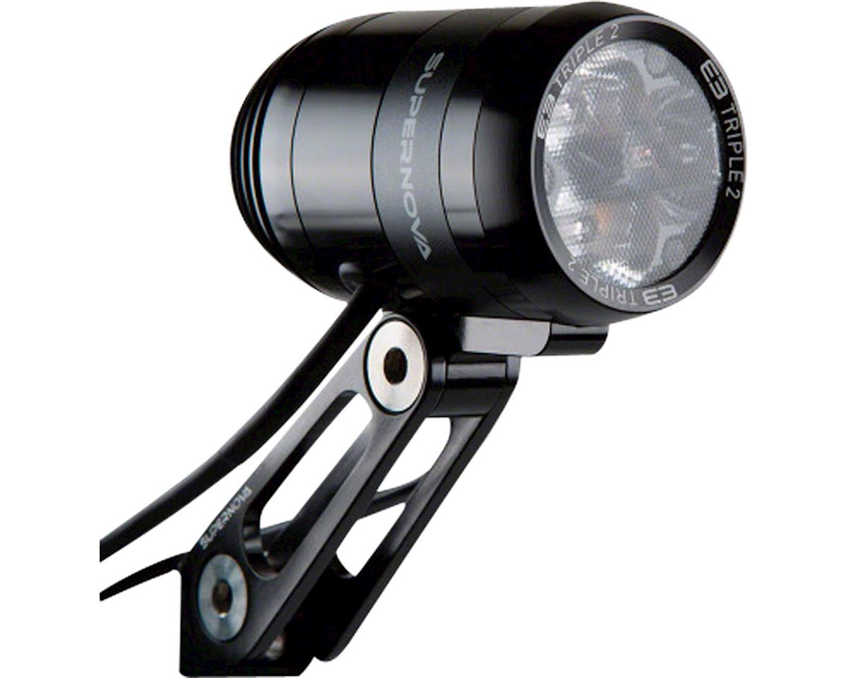 Supernova E3 Triple 2 Dynamo Headlight (Black)