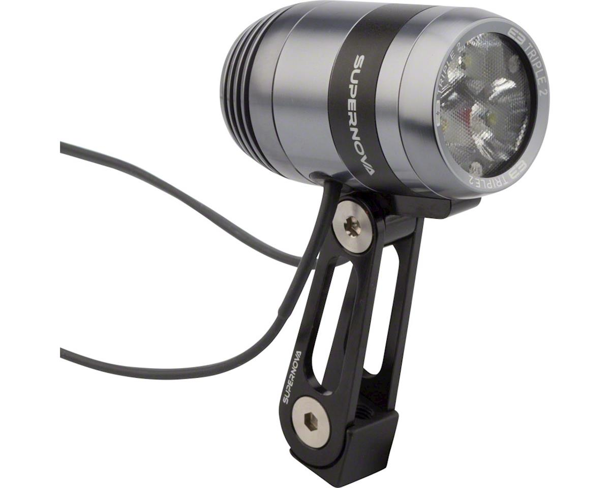 E3 Triple 2 Dynamo Headlight: Gray