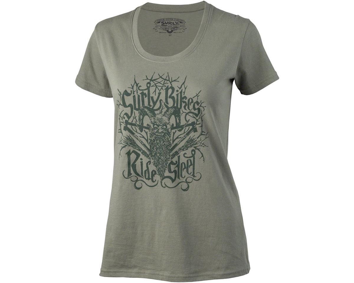 Surly Ride Steel Women's T-Shirt: Green LG
