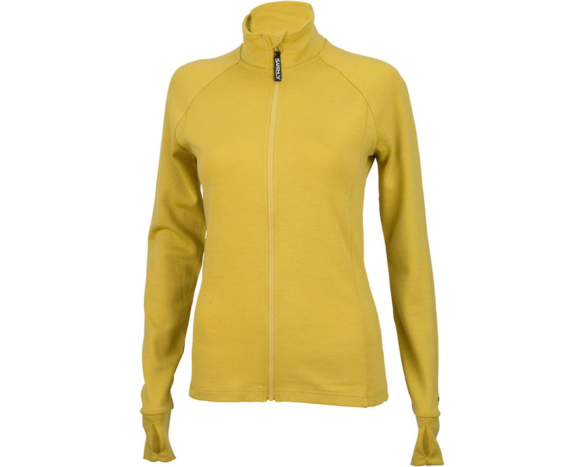 Surly Merino Wool Women's Long Sleeve Jersey: Dried Mustard Yellow (XS)