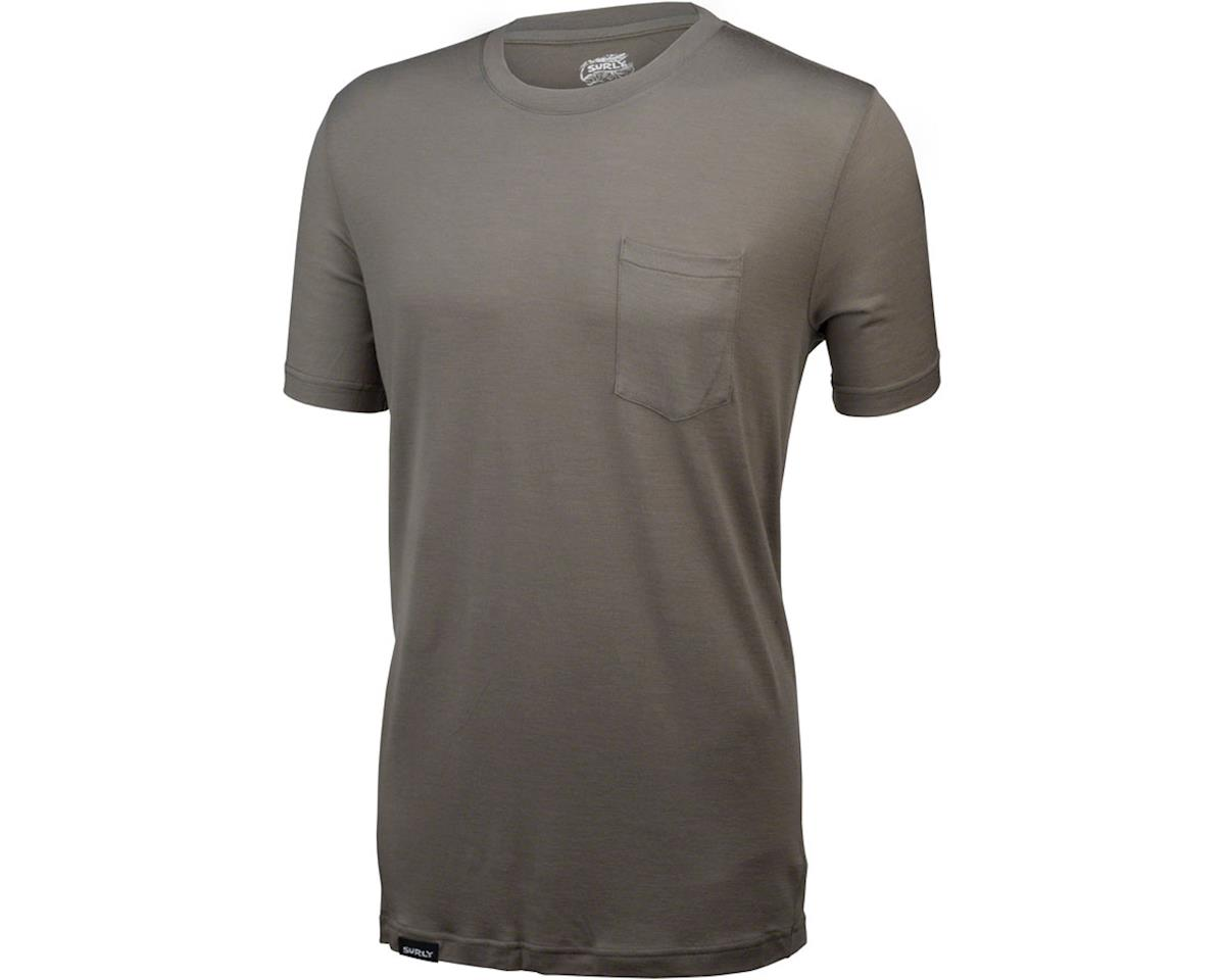 Surly Merino Pocket T-Shirt: Black (XL)