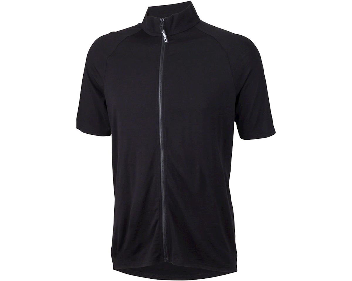 Surly Merino Wool Lite Men's Short Sleeve Jersey (Black) (S)