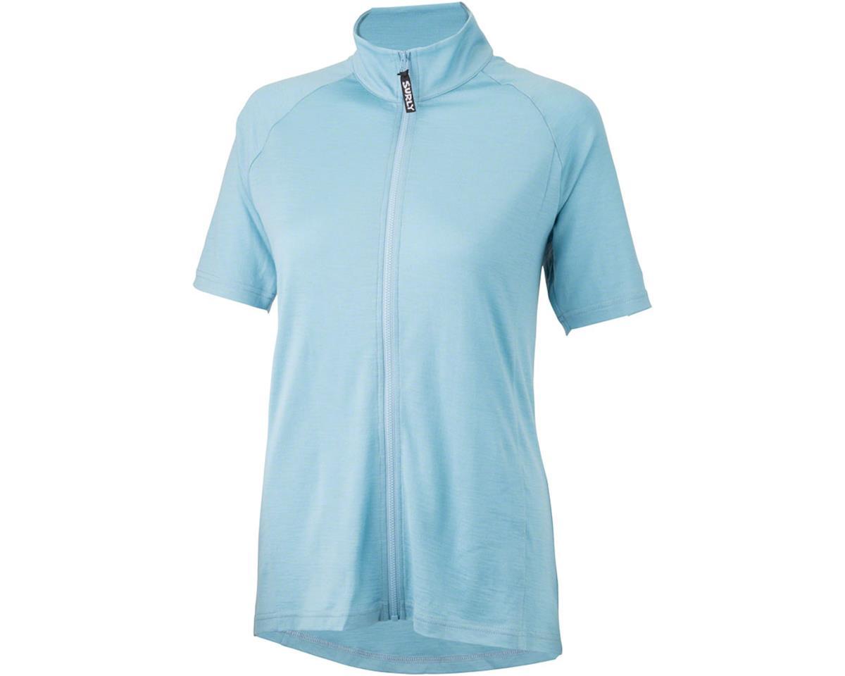 Surly Merino Wool Lite Women's Short Sleeve Jersey (Tile Blue) (M)