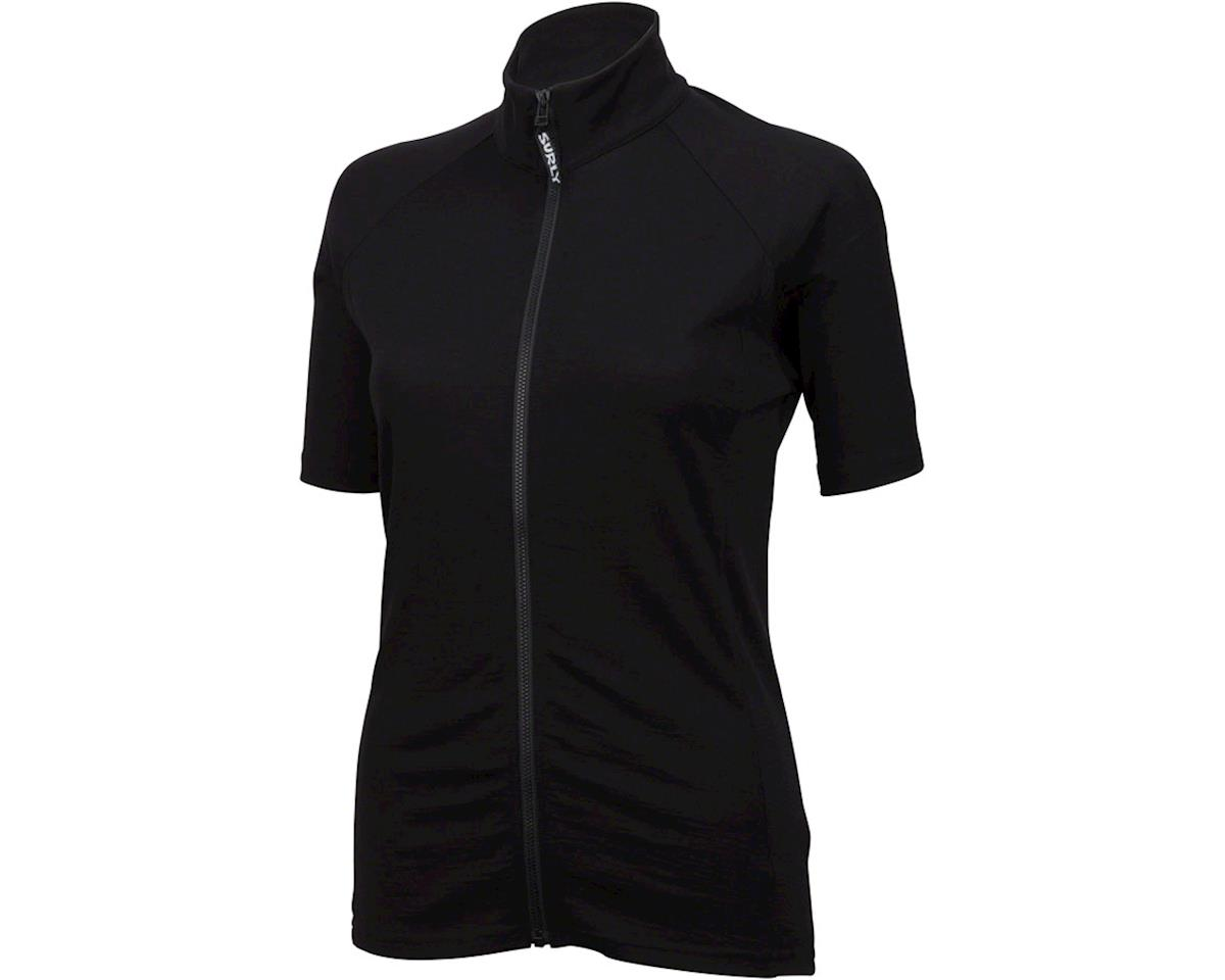 Surly Merino Wool Lite Women's Short Sleeve Jersey (Black) (M)