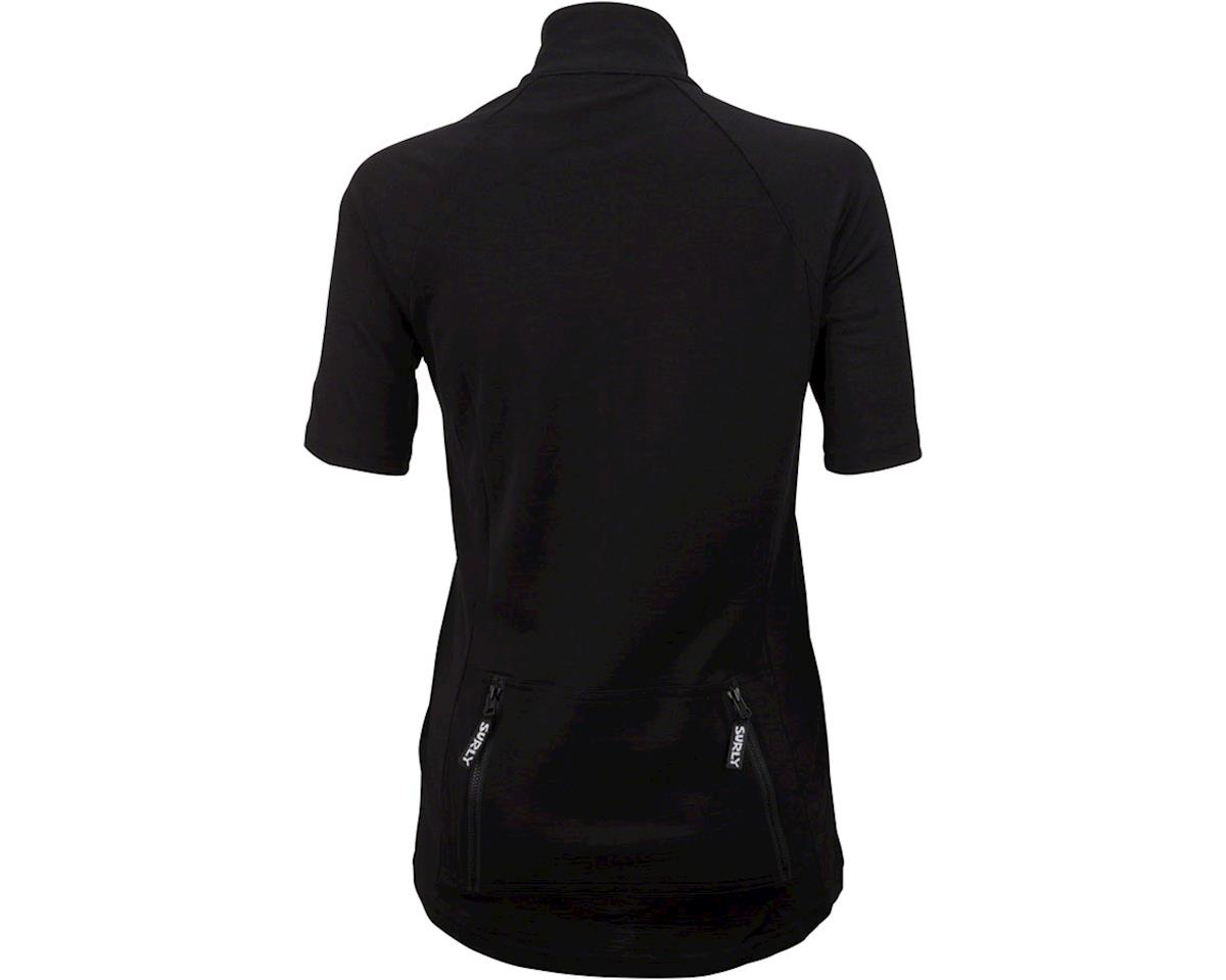Surly Merino Wool Lite Women's Short Sleeve Jersey (Black) (S)