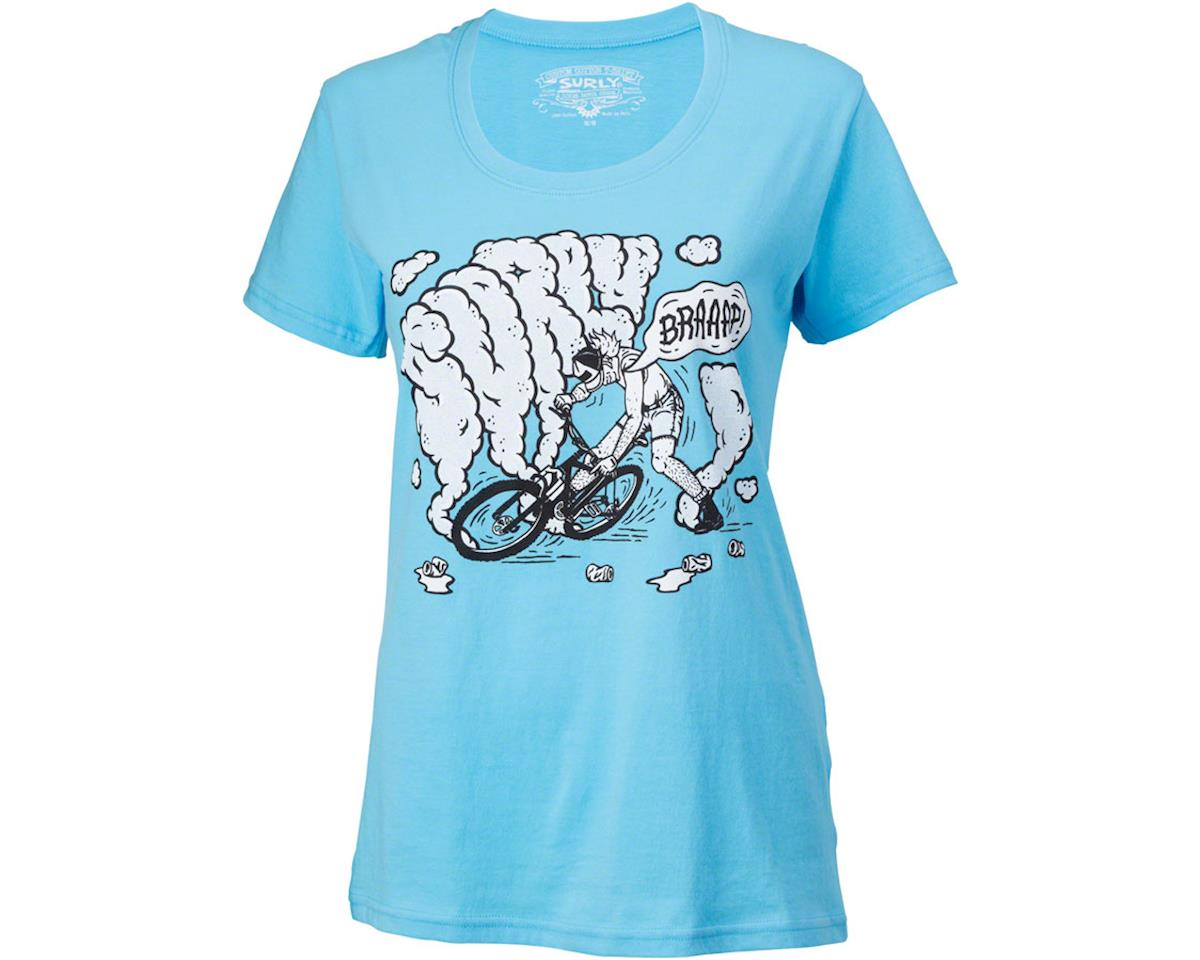 Surly Hang a Leg Women's T-Shirt (Blue) (XL)