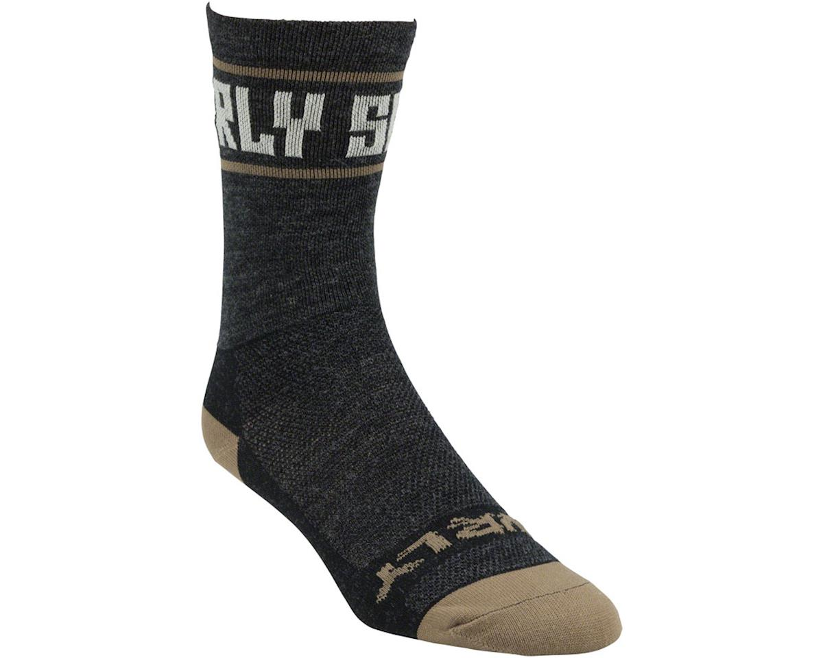 "Surly Sports Logo 5"" Sock (Black/Cream) (S)"