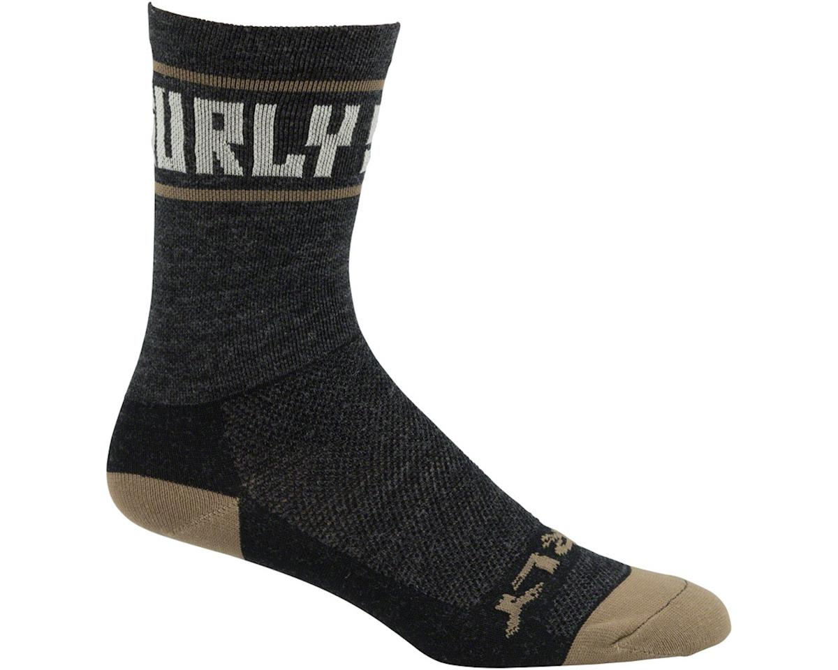 "Surly Sports Logo 5"" Sock (Black/Cream) (XL)"