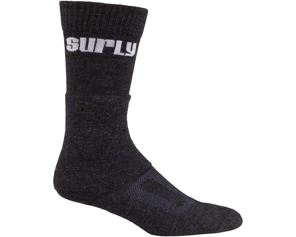 Surly Tall Logo Wool Sock (Black)