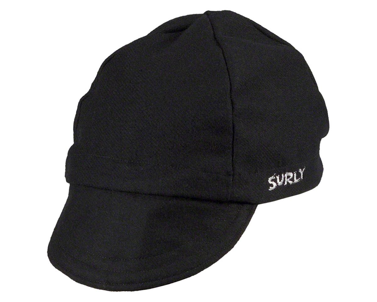 Surly Wool Cycling Cap (Black) (L/XL)