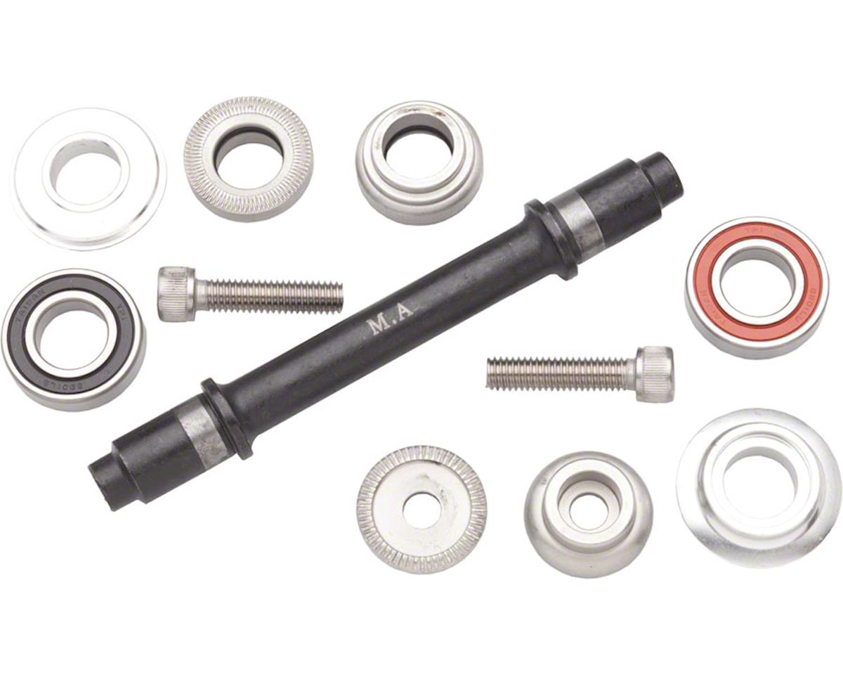 Ultra New Hub Axle Kit for 100mm Front Silver